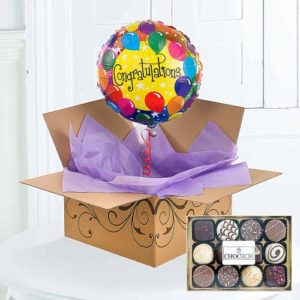 Congratulations Helium Balloon Delivery Chocolates 1799 FREE UK