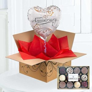 Happy Anniversary Balloons By Post Chocolates 1799 FREE UK Delivery