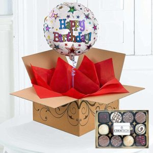Happy Birthday Helium Filled Balloon Chocolates 1799 FREE UK Delivery