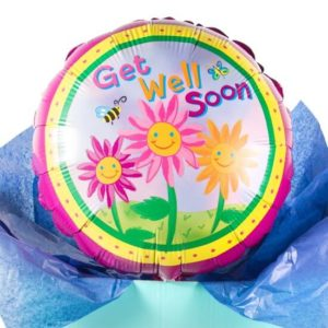get well soon balloon in a box